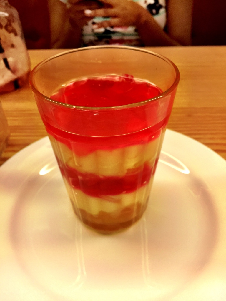 The Weikfeld Fruit Trifle. The only truly middling item on the day.