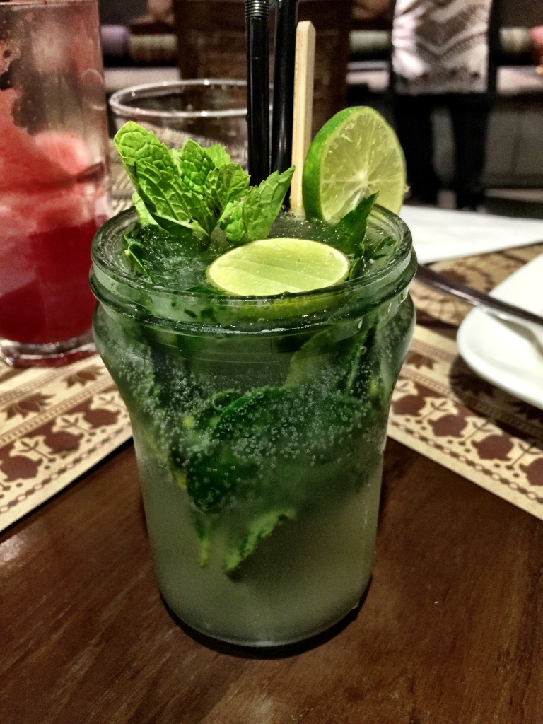 The Kaffir Lime Cooler, which was slightly nuclear and could blow your head off