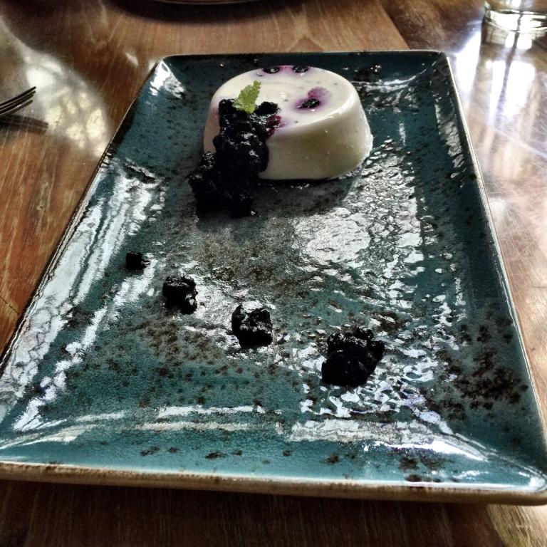 The lovely Blueberry Pannacota