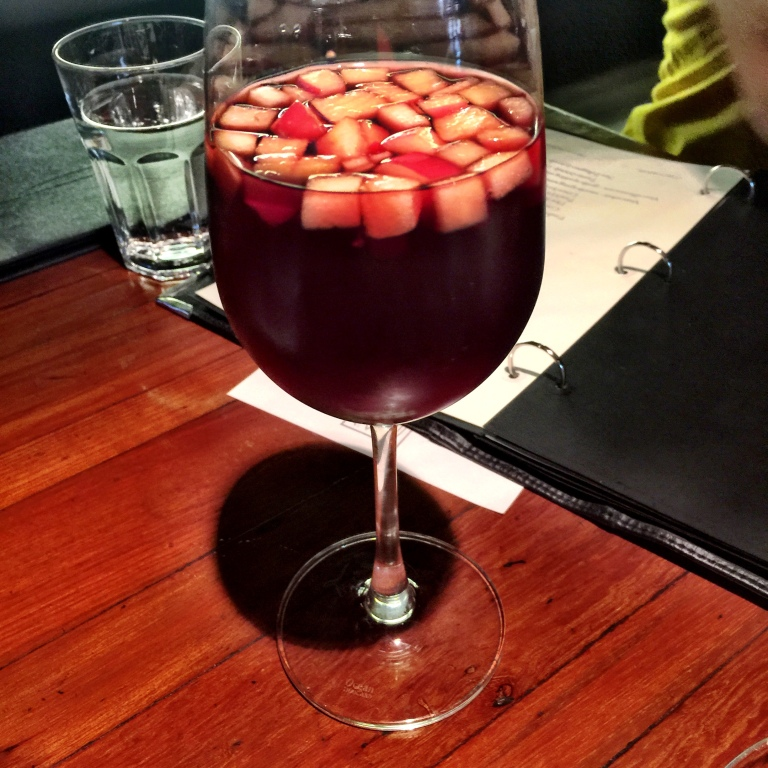 This Sangria was the only cause for some fine whine on the day