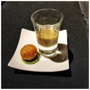 The Amuse Bouche. Not bad at all, but it didn't rock my world