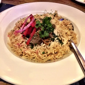 The Lamb mansaf that I took a real shine to.