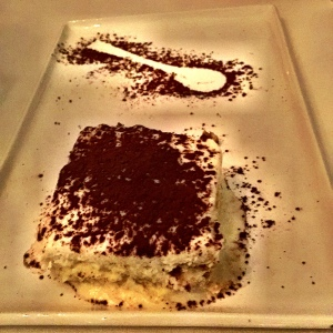 This Tiramisu gave a bittersweet end to the meal.
