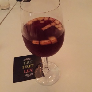 S for sensational, S For Spanish Sangria. No coincidence, that