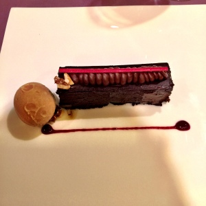The Belgian Chocolate Pave that was lovely, but too damn decadent for me