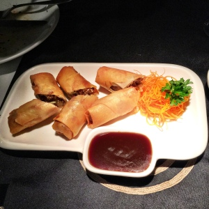 Don't duck when it arrives, else these Duck Spring Rolls will be gone before you resurface