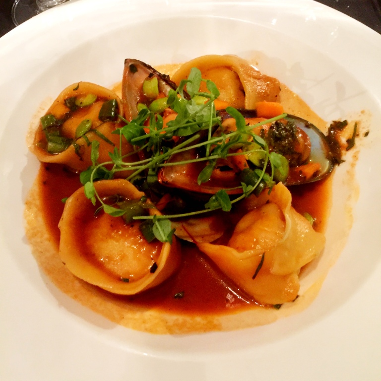 Check out those mussels! So much mussel, but no knockout punch for this Cochin Crab Ravioli.